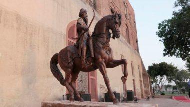 पाकिस्तान में महाराजा रणजीत सिंह की प्रतिमा के साथ तोड़फोड़, दो गिरफ्तार