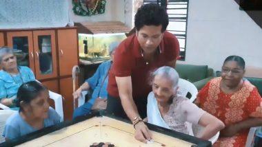 'राष्ट्रीय खेल दिवस' पर सचिन ने 'सेंट एंथनी ओल्ड एज होम' की वृद्ध महिलाओं के साथ स्पेंड किए क्वालिटी टाइम, देखें वीडियो
