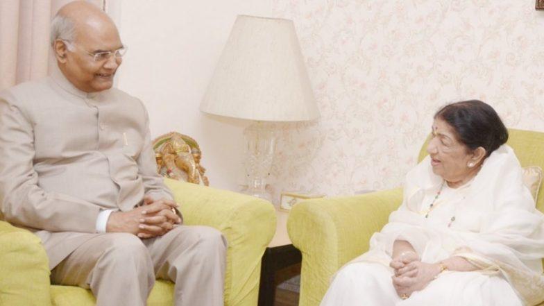 लता मंगेशकर से उनके घर पर मिले राष्ट्रपति रामनाथ कोविंद, गायिका ने ट्विटर पर सांझा की तस्वीरें