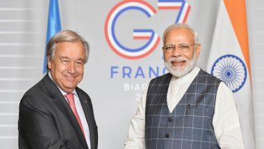 प्रधानमंत्री नरेंद्र मोदी ने संयुक्त राष्ट्र महासचिव एंटोनियो गुटेरेस के साथ जलवायु परिवर्तन के खिलाफ लड़ाई जारी रखने की प्रतिबद्धता को दोहराया