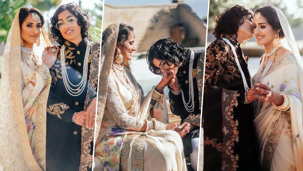 भारत-पाकिस्तानी Lesbian कपल बियांका और सायमा ने कैलीफोर्निया में धूमधास से रचाई शादी, देखें खूबसूरत तस्वीरें