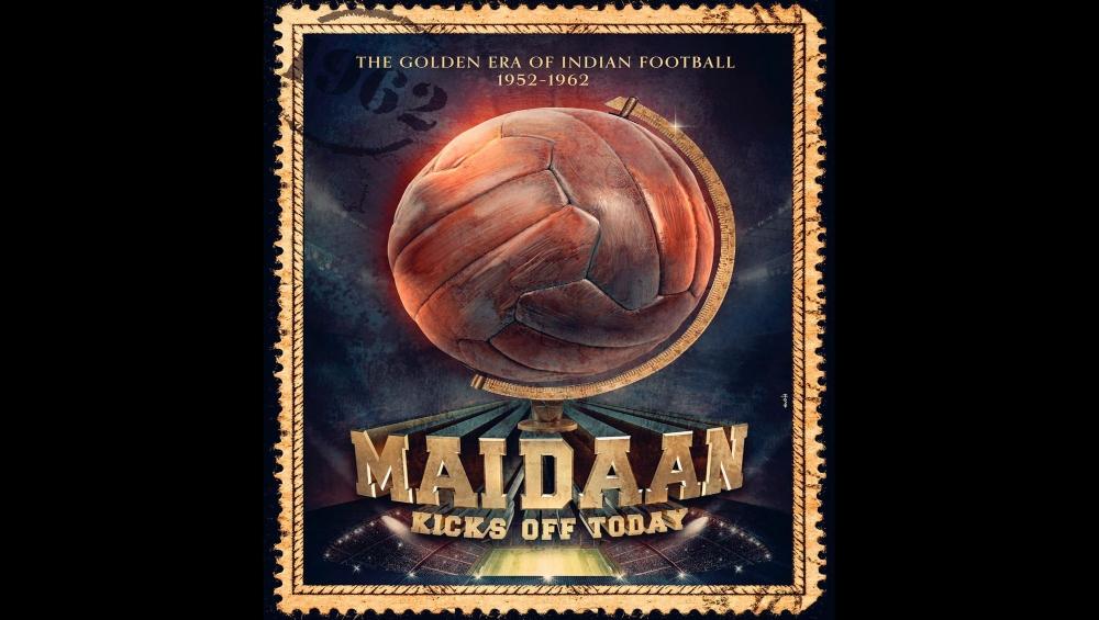 अजय देवगन जल्द शुरू करेंगे 'मैदान' की शूटिंग, सोशल मीडिया पर फिल्म का एक पोस्टर किया साझा