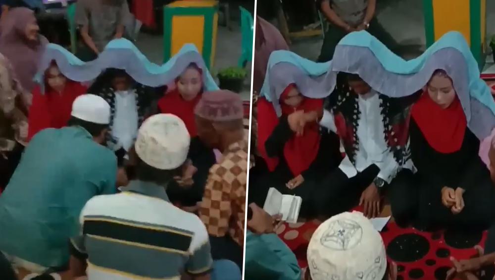 इस शख्स ने अपनी दोनों गर्लफ्रेंड से एक ही मंडप में की शादी, कहा-नाराज नहीं कर सकता, देखें वीडियो