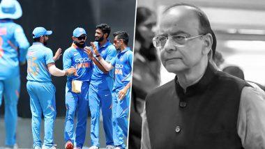 अरुण जेटली को श्रद्धांजलि देने के लिए आज मैदान पर काली पट्टी बांधकर उतरेगी टीम इंडिया