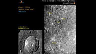 चंद्रयान 2 ने दिखाए पहली बार चांद के गड्ढे, वैज्ञानिकों के ऊपर रखे गड्ढों के नाम, ISRO ने जारी की तस्वीर