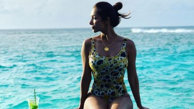 पूल के किनारे स्टाइलिस्ट स्विमशूट में अपनी परफेक्ट बॉडी को फ्लॉन्ट करती आई नजर मलाइका अरोड़ा