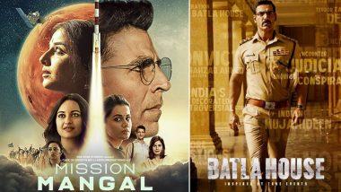 100 करोड़ के करीब पहुंचा अक्षय कुमार की फिल्म 'मिशन मंगल' का बिजनेस, जॉन अब्राहम की 'बाटला हाउस' ने कमाए इतने करोड़
