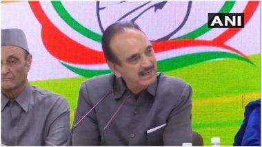 कांग्रेस नेता गुलाम नबी आजाद ने कहा- जम्मू कश्मीर पर गृह मंत्रालय के एडवाइजरी से लोग डरे हुए हैं