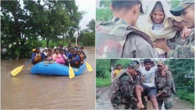 महाराष्ट्र और कर्नाटक के कई इलाके भीषण बाढ़ की चपेट में, राहत कार्य में जुटे भारतीय सेना के एक हजार जवान