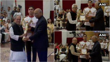 प्रणब मुखर्जी, भूपेन हजारिका और नानाजी देशमुख को मिला भारत रत्न, राष्ट्रपति कोविंद ने देश के सर्वोच्च नागरिक सम्मान से किया सम्मानित