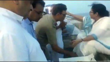 कोलकाता: आईपीएस अधिकारी राजीव मिश्रा ने सीएम ममता बनर्जी  के छुए पैर, बीजेपी ने की निंदा