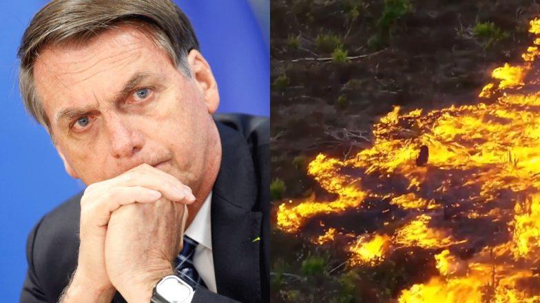 ब्राजील के राष्ट्रपति जायर बोलसोनारो ने अमेजन में लगी आग के बारे में वैश्विक चिंताओं को दूर करने का किया प्रयास