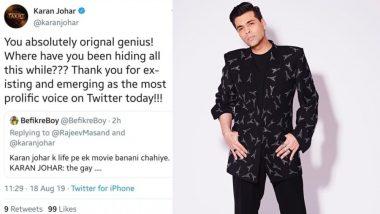 सेक्सुएलिटी का मजाक बनाने वालों को करण जौहर ने दिया करारा जवाब, देखें ट्वीट