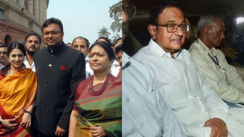 आईएनएक्स मामले में पी. चिदंबरम की सुनवाई से पहले पत्नी नलिनी और बेटे कार्ति पहुंचे अदालत