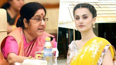सुषमा स्वराज की बायोपिक फिल्म में काम करना चाहती हैं तापसी पन्नू, दिया ये बड़ा बयान