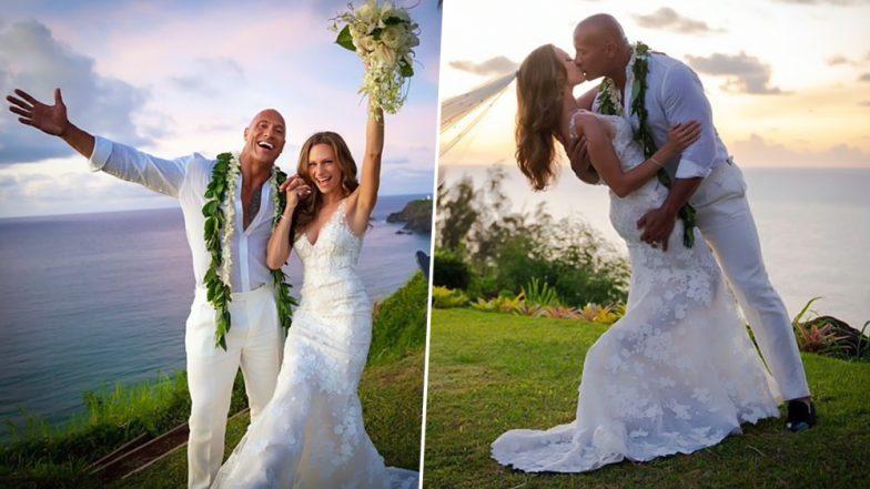 हॉलीवुड सुपरस्टार और WWE रेसलर द रॉक की हुई शादी, सोशल मीडिया पर शेयर की तस्वीर