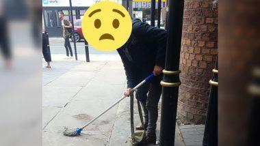 रेलवे स्टेशन के बाहर खड़ा ये शख्स अचानक करने लगा पेशाब, लेकिन फिर जो हुआ किसी ने सोचा नहीं होगा ?