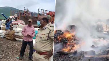 आंध्र प्रदेश: विशाखापट्टनम पुलिस ने बरामद किए गए 13 करोड़ के भांग को किया नष्ट