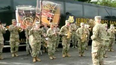 अमेरिकी आर्मी बैंड ने जॉइंट प्रैक्टिस के दौरान भारतीय सैनिकों के लिए बजाया जन गण मन, देखें वीडियो