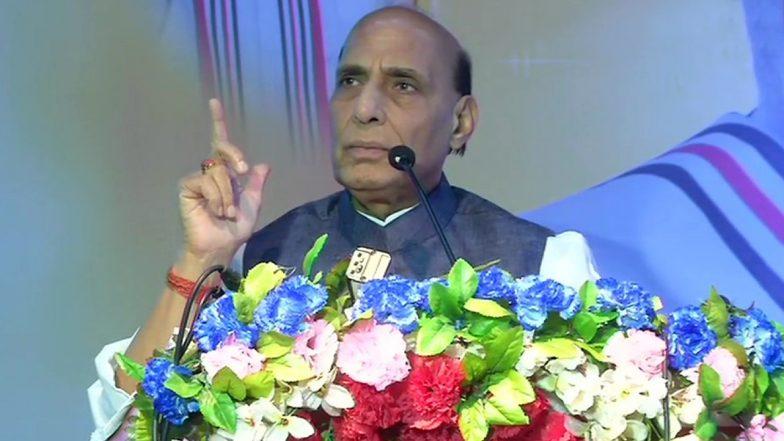 पटना में रक्षा मंत्री राजनाथ सिंह ने कहा- देखते हैं पाकिस्तान कितने आतंकवादी भेज सकता है, कोई लौट कर नहीं जा सकेगा