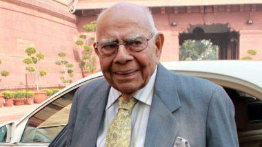 वरिष्ठ वकील राम जेठमलानी का 95 साल की उम्र में निधन, लंबे समय से चल रहे थे बीमार