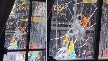 Video: लंदन में बदतमीजी पर उतरे पाकिस्तानी प्रदर्शनकारी, भारतीय उच्चायोग पर फेंके अंडे और पत्थर, खिड़कियों के शीशे टूटे