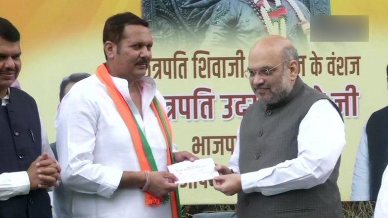 महाराष्ट्र विधानसभा चुनाव से ठीक पहले NCP को बड़ा झटका, छत्रपति शिवाजी के वशंज उदयनराजे भोसले बीजेपी में शामिल, अमित शाह ने दिलाई सदस्यता