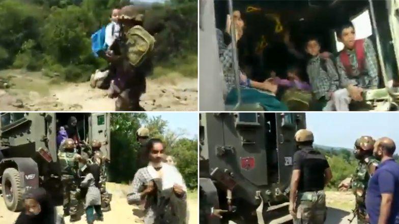 सेना के जवानों ने अपनी जान दांव पर लगाकर कुछ यूं स्कूल में फंसे मासूमों को बचाया, देखें वीडियो