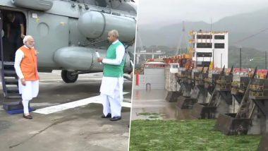 Happy Birthday PM Modi: प्रधानमंत्री नरेंद्र मोदी सरदार सरोवर बांध पहुंचे, करेंगे नर्मदा नदी की पूजा