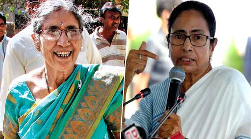कोलकाता एयरपोर्ट पर पीएम मोदी की पत्नी जशोदाबेन से ममता बनर्जी की हुई मुलाकात, भेंट में दी साड़ी