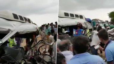 राजस्थान: जोधपुर में दर्दनाक सड़क हादसा, दो गाड़ियों की भिड़ंत में 13 लोगों की मौत और 8 घायल