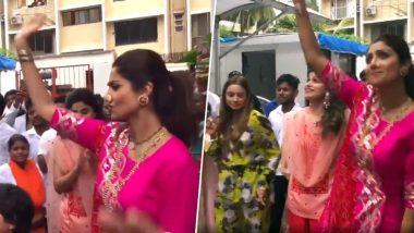 गणेश विसर्जन के दौरान शिल्पा शेट्टी ने पति और बेटे के साथ किया जमकर डांस, सोशल मीडिया पर शेयर किया वीडियो