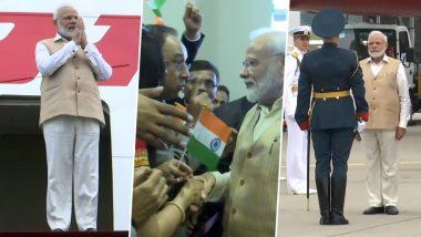 पीएम मोदी दो दिवसीय यात्रा पर रूस पंहुचे, भारतीय समुदाय के लोगों ने किया जोरदार स्वागत