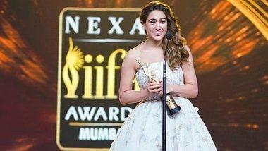 IIFA AWARDS WINNER 2019: सारा अली खान ने 'बेस्ट डेब्यू एक्ट्रेस अवॉर्ड' की जीत पर कहा- जय भोलेनाथ