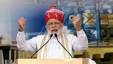 Happy Birthday PM Modi: पीएम मोदी ने गुजरात में सरदार सरोवर बांध पर नर्मदा नदी की 'आरती' की
