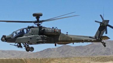 IAF में मंगलवार को शामिल होंगे आठ अपाचे लड़ाकू हेलीकॉप्टर