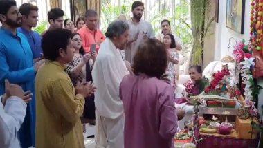 सचिन तेंदुलकर ने गणेश चतुर्थी पर पूजा-अर्चना के साथ देश वासियों को दी बधाई, देखें वीडियो
