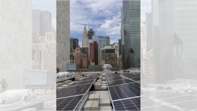भारत ने संयुक्त राष्ट्र को गांधी सोलर पार्क किया भेंट, 193 सौर पैनलों से 50 किलोवाट बिजली की होगी पैदावार