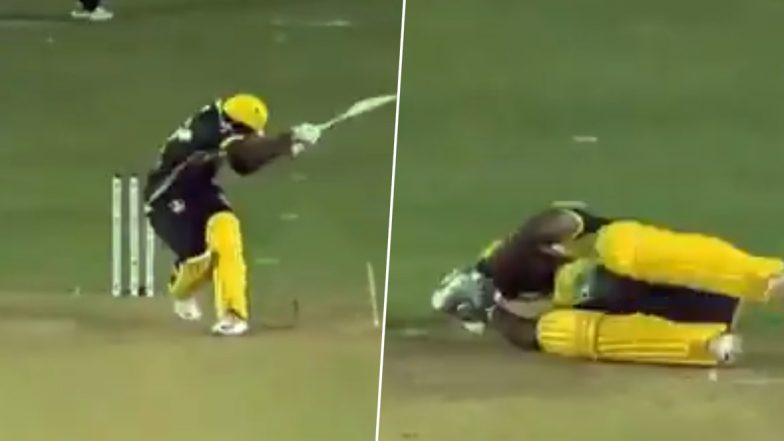 CPL 2019: हार्डस विल्जोएन की गेंद पर बुरी तरह से चोटिल हुए आंद्रे रसेल, देखें वीडियो