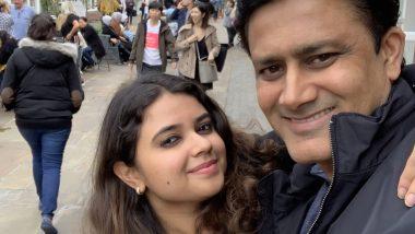 पूर्व भारतीय कप्तान अनिल कुंबले अपनी बेटी के साथ लंदन की सड़कों घुमते हुए आए नजर
