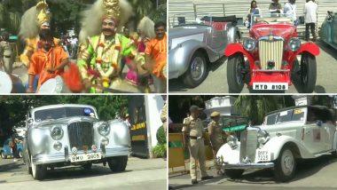 कर्नाटक: विंटेज कार रैली का बेंगलुरु के राजभवन से हुआ आगाज, देखें तस्वीर