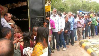 केंद्र सरकार दिल्ली में बेच रही है 22 रुपये किलो प्याज, खरीदने के लिए उमड़ी भीड़
