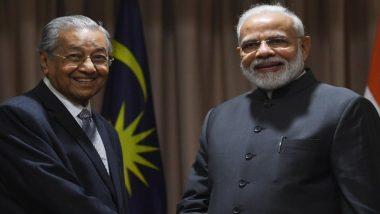प्रधानमंत्री नरेंद्र मोदी ने मलेशिया के पीएम महातिर मोहम्मद से कश्मीर मुद्दे पर की बातचीत, जाकिर नाइक के प्रत्यर्पण का उठाया मामला
