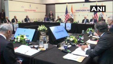 ह्यूस्टन: हाउडी मोदी कार्यक्रम से पहले प्रधानमंत्री नरेंद्र मोदी ने ऑयल सेक्टर के 16 सीईओ से की बातचीत