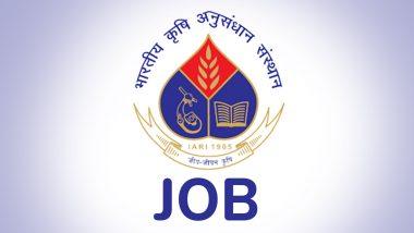 IARI Recruitment 2019: इंडियन एग्रीकल्चरल रिसर्च इंस्टिट्यूट में यंग प्रोफेशनल के लिए वेकेंसी, इस दिन देना होगा केवल इंटरव्यू