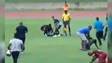 जमैका: फुटबॉल मैच के दौरान कॉलेज के लड़कों पर गिरी बिजली, सोशल मीडिया पर वायरल हुआ डरावना वीडियो!