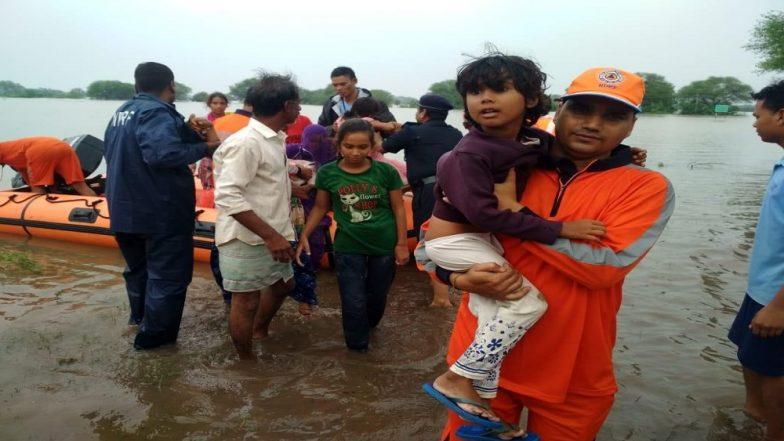 मध्यप्रदेश के कई हिस्सों में बाढ़ के हालात, 45 हजार लोगों ने ली शिविरों में शरण