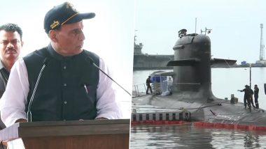 इंडियन नेवी को मिली 'साइलेंट किलर' की ताकत, रक्षामंत्री राजनाथ सिंह की मौजूदगी में नौसेना के बेड़े में शामिल हुई INS खंडेरी