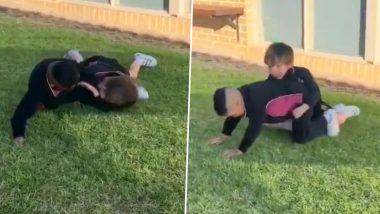 शिखर धवन ने ट्विटर पर शेयर किया अपने बेटे का क्यूट वीडियो, WWE खेलते नजर आए जोरावर