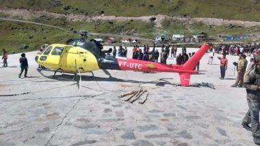 केदारनाथ: हेलिकॉप्टर का लैंडिंग के दौरान बिगड़ा संतुलन, बाल-बाल बचे सवार 6 यात्री